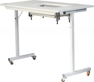 "Arrow, Gidget 1, Gidget 2, TDM, Sewing Table, Sewing, Embroidery, Serger, Machine, Craft, Hobby Portable Table 40x 20x28""H, Folding Steel Legs, Fully Assembled, 7 3/8 x 17.5 Cutout*, Roberts 299, Arrow 98601 Gidget 1 WHITE Portable Sewing & Serger Machine Craft and Hobby Table, 40x20x28""H, Folding Steel Legs, 7 3/8x17.5"" Cutout Platform, 25Lbs"