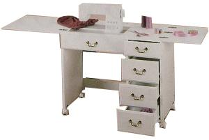 Perfexion, PXD351, WHITE FINISH, Sewing, Craft, Desk, by Horn of America, Preassembled