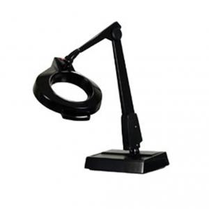 Dazor, MC100, 8MC100, 8MC-100, Desk Lamp, Magnifier Light, Weighted Base, 26&quot; Reach, Floating Arm, 22W Circline Tube, 5&quot; Inch Lens, 13&quot; Focal Length, UL, Made in USA