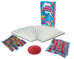 New Nostalgia Electrics HCK800 Hard & Sugar-Free Cotton Candy Kit