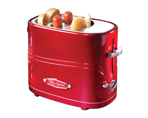New Nostalgia Electrics HDT600RETRORED Retro Series Pop-Up Hot Dog Toaster