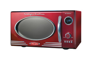 New Nostalgia Electrics RMO400RED Retro Series 0.9 Cubic Foot Microwave Oven, Red