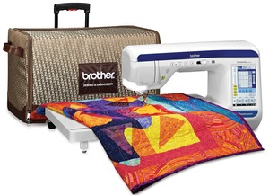 "Brother, VQ3000, baby lock Crescendo, DreamWeaver, babylock Crescendo, Quilting, Sewing Machine, 11.25"", Longarm, 1050SPM, PenPal, Laser Guide, MuVit, Rotary, Dual Feed, Wide Extension Table, Cases"