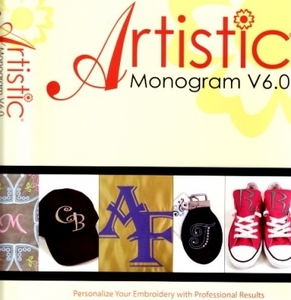 Artistic Monogram V6.0 Embroidery Software, Create Edit Resize
