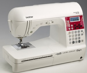 Brother, NX-800FS Demo, 138, Stitch, Laura, Ashley, Limited, Edition,Sewing, Machine, NX800, 3, Alphabets, 10, Buttonholes, LCD Display, 850 SPM, Top Drop-In Bobbin