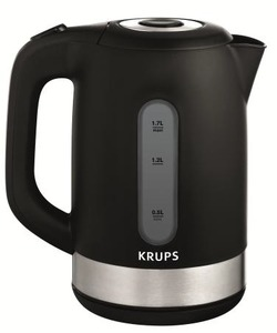Krups, BW700853, Krups  BW7008, Black and Stainless Steel, Electric Kettle, Auto Off, 1.7 Liter, Anti Scale Filter, FLF2J4, FLF2J1