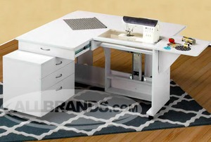 Everything you Need in one Sewing Cabinet: Extra Large Surface, Storage Caddy and Fold Down Design, and the Largest Machine Platform