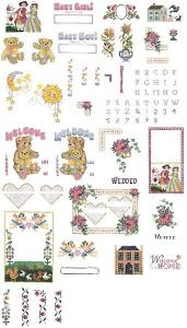 Brother No 72,  SA372 Cross Stitch Designs by by Vermillion Stitchery on an  Embroidery Card