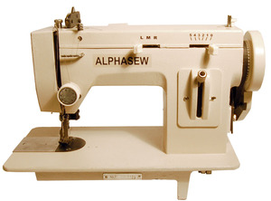 "Alphasew, PW200ZZ, PW200-ZZ, Portable Walking Foot , Straight Stitch  & 5mm Zigzag, Flatbed, Sewing Machine, 150W, 1/4"" Welt Foot, Light, Winder, FREE Case, 100 Needles"