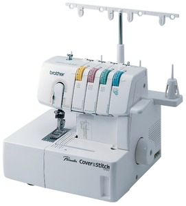 "Brother, 2340CV, 2 or 3-Needle, 3 & 6 mm, Best Buy, COVERSTITCH-ONLY Machine, Differential Feed, Color Coded, Lay In THREAD Tensions, Brother 2340CV, $400 6-Coverstitch Guide Feet & Case, 2&3 Needle 3&6mm 1/4"" Cover Hem & ChainStitch Machine, DifferentialFeed, Length&Width ColorCoded"