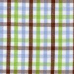 "Fabric Finders 15 Yd Bolt 9.34 A YdT42 White, Brown, Blue, And Green Gingham Plaid 100% Pima Cotton 60"" Fabric"