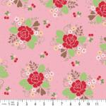 "Riley Blake Designs  15Yd Bolt 7.34 A Yd  C2520 Pink Sew Cherry 100% Cotton  45""Fabric"